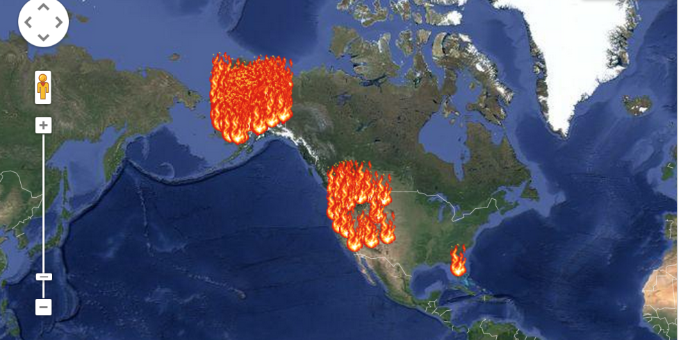This Wildfire Map Shows Every Place on Fire Right Now