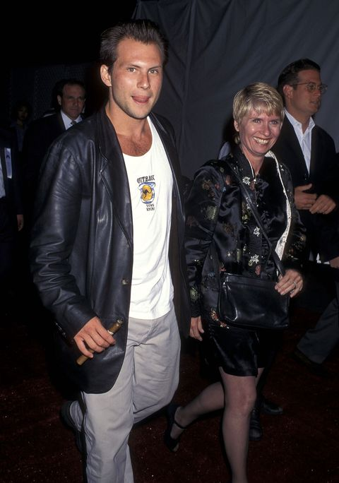 <p>Oversized leather jacket, Outback tank, massive cigar? Slater brought it all—along with his mother.</p>