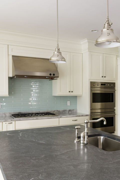 """<p>The acidic liquid can <a target=""""_blank"""" href=""""http://www.goodhousekeeping.com/home/cleaning/tips/a20505/dont-use-vinegar-cleaning/"""">etch and damage materials like granite</a>. Use a mild stone cleaner, like Granite Gold instead. (<em>$8,<a target=""""_blank"""" href=""""http://www.bedbathandbeyond.com/store/product/granite-gold-32-ounce-daily-cleaner/1042234043?mcid=PS_googlepla_nonbrand_cleaning_&adpos=1o1&creative=39230273269&device=c&matchtype=&network=g&gclid=CK7vrePjxMUCFU-QHwodS2UAoQ"""">bedbathandbeyond.com</a></em>)</p>"""