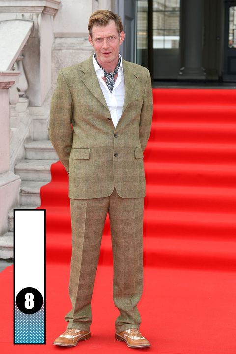 Dress shirt, Collar, Sleeve, Trousers, Coat, Shirt, Standing, Red, Outerwear, Suit trousers,