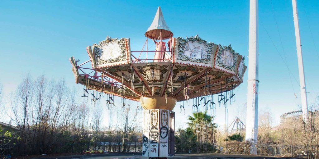 PHOTOS: The Abandoned Six Flags New Orleans, 10 Years After Hurricane Katrina