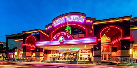 Purple, Magenta, Neon, Commercial building, Electronic signage, Signage, Neon sign, Mixed-use, Arcade,