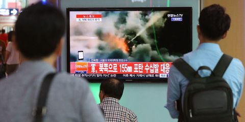 North and South Korea Exchange Heavy Arms Fire