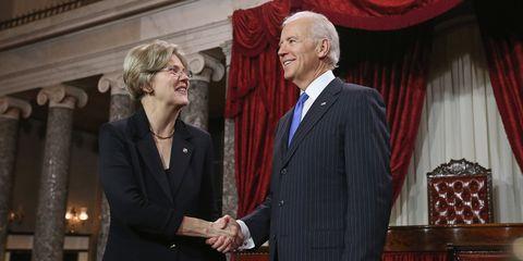 Elizabeth Warren & Joe Biden