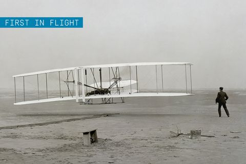 """<p>The machine that made the first successful flight in a heavier-than-air powered aircraft may be the most important airplane of all time. But don't forget, the Wright Brothers <a href=""""http://www.popularmechanics.com/flight/interviews/a16288/david-mccullough-wright-brothers/"""">achieved an unprecedented level of airmanship—and marketing</a>—that went far beyond those first few minutes aloft on the beaches of Kitty Hawk. The Wrights' use of wing warping to achieve bank, in coordination with yaw from the rudder, allowed their craft to be properly controlled. This concept is still used on virtually every plane in the air today.</p><p>Not satisfied with being first in flight, the brothers spent many years unsuccessfully attempting to sell their invention, specifically to the U.S. and European governments as military vehicles. They went on a public tour instead, and nearly five years after their first flight, Wilbur Wright became world famous overnight after a <a href=""""http://airandspace.si.edu/exhibitions/wright-brothers/online/age/1908/europe.cfm"""">public showing</a> at the flying field in LeMans, France, in 1908 before a very skeptical audience. This performance inspired an aviation revolution across western Europe that would lead to rapid advancement in the understanding and development of powered flying machines.</p>"""