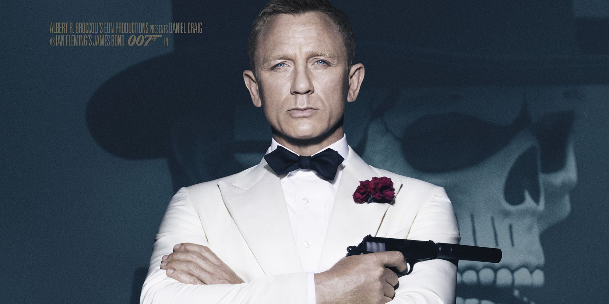 New Spectre Poster Shows James Bond In A White Dinner Jacket