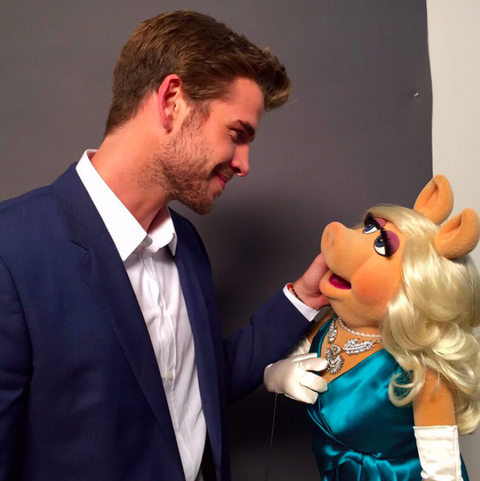 "<p>Hemsworth finally joined Instagram on August 31, 2015, and posted a photo of himself staring amorously into the eyes of Miss Piggy with the caption: ""Spent Friday with the most beautiful girl in the world. Kermit, <span class=""s2"">#SorryNotSorry</span>. <span class=""s2"">#TheMuppets</span> <span class=""s2"">#misspiggy""</span></p>"