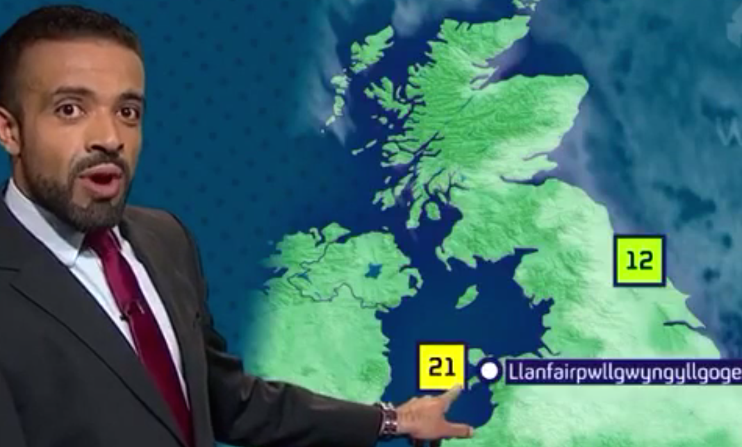 watch this weather guy pronounce an unpronounceable name perfectly