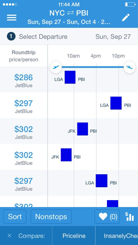"""<p>The geniuses behind this app realized that some people like to search flights based on cheapest price, others by departure or arrival times, others still by the length of the journey (aptly called """"agony""""). </p><p>Since launching in 2010, the site with the rodent mascot has expanded to include hotel and car-rental bookings, as well as package deals. Don't know where you want to take the new girlfriend this weekend? Hipmunk knows that it's only $234 to fly from New York to Palm Beach, a deal that'll impress her more than roses. </p><p><em>Get it on <a href=""""https://itunes.apple.com/us/app/id419950680?mt=8&pt=desktopmobilepage&ct=NONE"""" target=""""_blank"""">iTunes</a> for Apple and on <a href=""""https://play.google.com/store/apps/details?id=com.hipmunk.android&referrer=af_tranid%3D3ST370HHZH6WXQX7%26pid%3Ddesktopmobilepage"""" target=""""_blank"""">Google Play</a> for Android.</em></p>"""