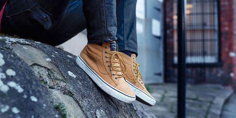 Brown, Trousers, Denim, Textile, Shoe, Jeans, Jacket, Street fashion, Tan, Fashion,