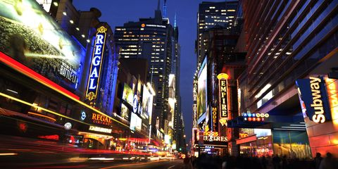 night on the town/Times Square