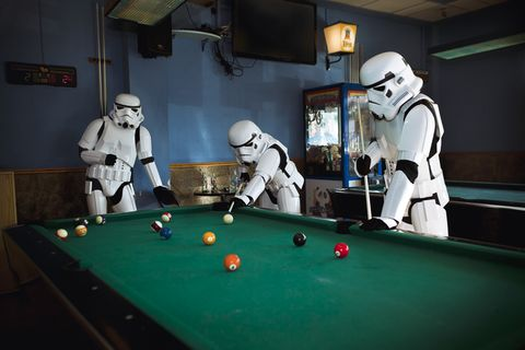 Billiard ball, Indoor games and sports, Ball, Room, Recreation, Recreation room, Pool, Shoulder, Billiard room, Joint,