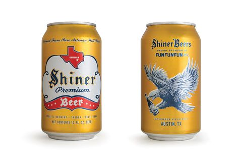 Shiner Beer Cans