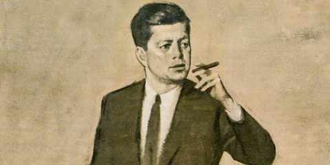 Finger, Collar, Eyebrow, Dress shirt, Cigarette, Smoking, Formal wear, Tobacco products, Tie, Blazer,