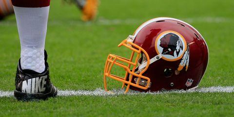 Washington Redskins football helmet