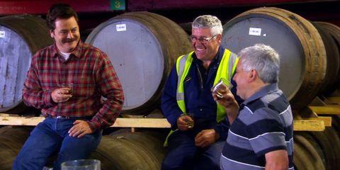 Winery, Barrel, Gas, Winemaker, Flash photography, Plaid, Wine cellar, Business, Engineering, Tartan,