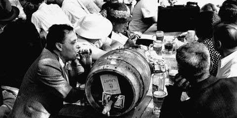American Nazis drinking beer at Camp Siegfried.
