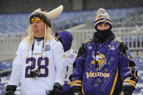 <p>The Packers, however, do not always play the coldest home games. That chilly honor goes to their rivals to the west, the Minnesota Vikings. Vikings fans reportedly endure the coldest games with an average game time temperature of 42.14 degrees. </p>