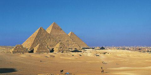 Blue, Brown, Natural environment, Pyramid, Sand, Landscape, Soil, Khaki, Ecoregion, Aeolian landform,