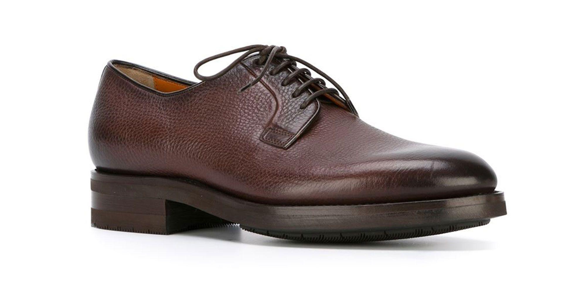 Footwear Fix: Santoni Burnished Derby Shoes