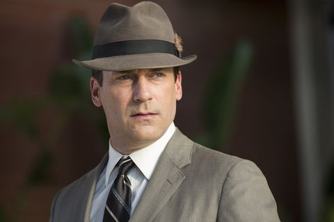 """<p>Don Draper, booze-fueled hard-ass with <a href=""""http://www.esquire.com/style/mens-fashion/news/a34107/the-20-best-mad-men-outfits-ever-ranked/"""" target=""""_blank"""">impeccable style</a>, is officially a true reflection of American culture. The Smithsonian boasts its own collection of <em>Mad Men</em> paraphenalia, from on-set alcohol to Lucky Strike cigarettes, as well as the timeless gray suit Draper wore through all seven seasons. Add the fedora—also part of the <em>Mad Men</em> homage—and it's an ad man starter pack.</p>"""