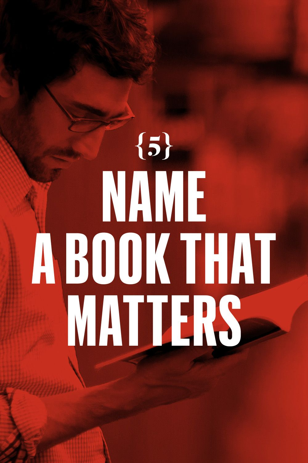 <p>Name a book that matters. <em>The Catcher in the Rye</em> does not matter. Not really. You gotta read.</p>
