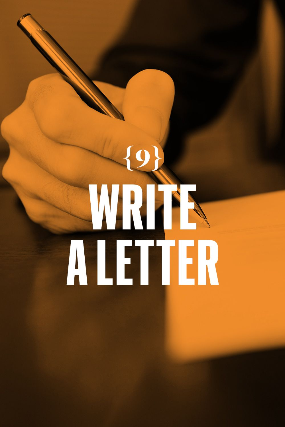 <p>Write a letter. So easy. So easily forgotten. A five-paragraph structure works pretty well: Tell why you're writing. Offer details. Ask questions. Give news. Add a specific memory or two. If your handwriting is terrible, type. Always close formally. </p>