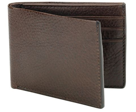 "<p>Because no self-respecting man should carry one with a velcro closure.</p><p><em>Leather bifold wallet ($195) by Lotuff, </em><a href=""http://lotuffleather.com/collections/men/products/leather-bifold-wallet"" target=""_blank""><em>lotuffleather.com</em></a></p>"