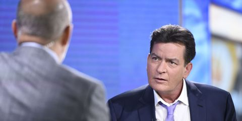 Charlie Sheen and Matt Lauer on the Today show.