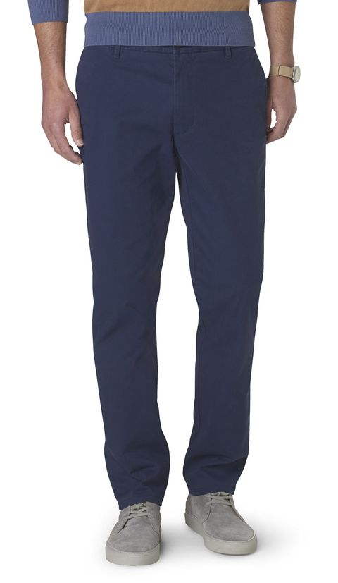 """<p>A perfectly slim navy khaki is one of the most indispensable items a man can have in his wardrobe. That goes double come holiday season. Dress it up or down—either way, it'll look great.</p><p><em>Slim tapered marina khaki ($68) by Dockers, </em><a href=""""http://bit.ly/1YgmABB"""" target=""""_blank""""><em>dockers.com</em></a></p>"""