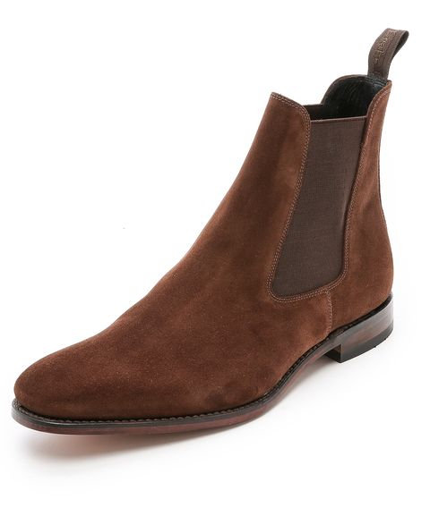 "<p>Start from the ground up with a pair of Chelsea boots. They'll go with everything in his wardrobe, and add a little extra polish to his look. </p><p><em>Mitchum suede Chelsea boots ($325) by Loake, </em><a href=""https://www.eastdane.com/mitchum-suede-chelsea-boot-loake/vp/v=1/1507911851.htm?folderID=19217&colorId=11409"" target=""_blank""><em>eastdane.com</em></a></p>"