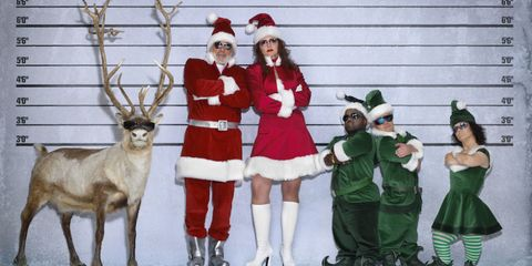 Deer, Event, Winter, Elk, Hat, Reindeer, Holiday, Antler, Costume accessory, Fictional character,
