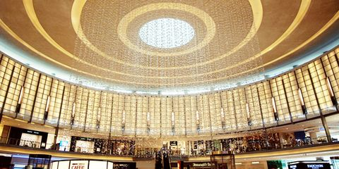 Ceiling, Commercial building, Hall, Circle, Library, Lobby, Dome, Shelf,