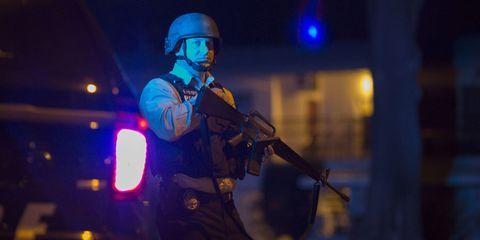 Helmet, Personal protective equipment, Headgear, Machine gun, Space, Ballistic vest, Goggles, Air gun, Military person, Gun barrel,