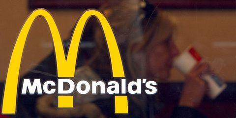 McDonald's logo on restaurant window