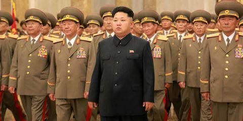 Soldier, Military uniform, Standing, Collar, Uniform, Dress shirt, Military organization, Military person, Formal wear, Military,