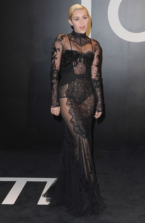 <p>Miley Cyrus at the Tom Ford Fall/Winter 2015 Womenswear Collection Presentation.</p>