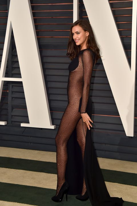 <p>Irina Shayk at the Vanity Fair Oscar Party.</p>