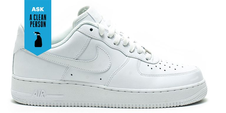 I Have A Pair Of White Leathery Looking Sneakers That Really Like And Try To Keep At Least Mostly While Ve Had Luck With The