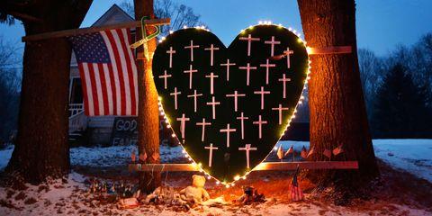 Flag, Winter, Landmark, Flag of the united states, Holiday, Heart, Love, Flag Day (USA), Christmas, Snow,