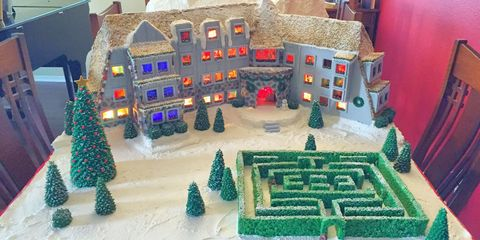 Urban design, Scale model, Christmas decoration, Conifer, Paint, Holiday, Christmas, Toy, Fir, Pine family,