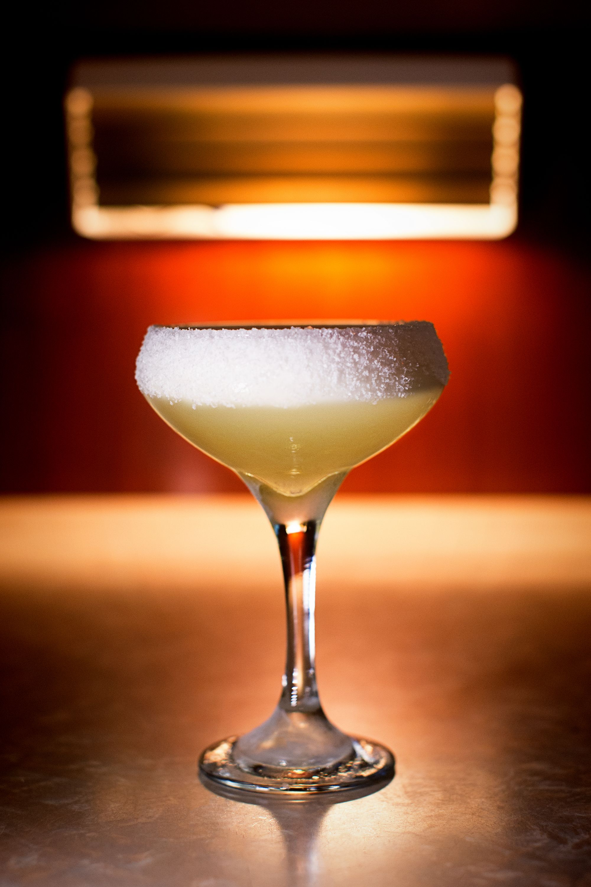 "<p>""It's just like a traditional margarita, but with an egg white. And we split the base between reposado tequila and mezcal. It gives you those summer flavors, but with the thickness of the body and the smoke of the mezcal.""</p><p><strong>Ingredients:</strong></p><p>• 1 oz reposado (slightly aged) tequila</p><p>• 1 oz mezcal (like Del Maguey Vida)</p><p>• 1 oz lime juice</p><p>• .75 oz simple syrup</p><p>• 1 egg white</p><p><strong>Directions:</strong></p><p>Shake ingredients without ice, then shake again with ice. Strain into a coupe glass and serve up with a salted rim. </p>"