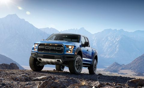 """It's the charismatic off-roader Ferrari would build if it built 4x4 pickups. Absent for the 2015 and 2016 model years, the Raptor is back for 2017, and <a href=""""http://www.caranddriver.com/reviews/2013-ford-f-150-svt-raptor-supercab-test-review"""">based on our experiences with the previous model</a>, it'll set the bar for factory off-road pickups. Happily, Ford stuck to the script for the new model—almost. There has been some paraphrasing in the engine bay, where, instead of the old truck's 411-hp 6.2-liter V-8, sits a new twin-turbocharged 3.5-liter V-6 engine with direct fuel injection. While it shares a displacement figure with the larger of the two EcoBoost V-6s available in the regular F-150, the Raptor's mill features a new aluminum block and upgraded internals, revised heads, and tweaked fuel-delivery equipment. (2017 Ford F-150 SVT Raptor shown)"""