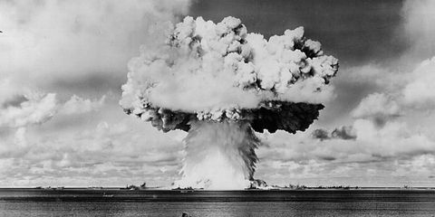 Photograph, White, Atmosphere, Pollution, Smoke, Cumulus, Monochrome photography, Monochrome, World, Explosion,
