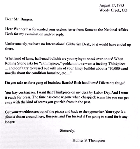 rejection letter response