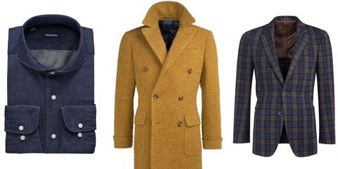 Clothing, Product, Brown, Coat, Collar, Sleeve, Pattern, Textile, Outerwear, Dress shirt,