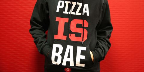 Sleeve, Textile, Text, Jacket, Font, Sports jersey, Sweatshirt, Active shirt, Top, Brand,