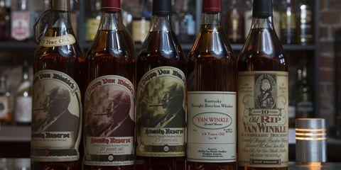 Glass bottle, Product, Brown, Bottle, Alcohol, Drink, Alcoholic beverage, Liquid, Font, Logo,