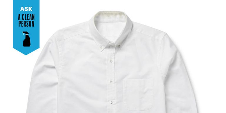 how to clean ring around the collar on white shirts