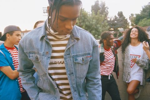 A$AP Rocky's Awesomely '90s Guess Collaboration Is Now Available Online